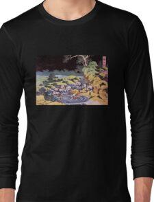 'Ocean Landscape' by Katsushika Hokusai (Reproduction) Long Sleeve T-Shirt