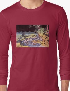 'Ocean Landscape' by Katsushika Hokusai (Reproduction) Long Sleeve T-Shirt