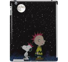 snoopy charlie dark sky iPad Case/Skin