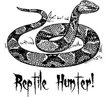 Reptile Hunter! Photographic Print
