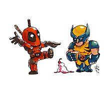 Little Wolverine drops his ice cream. (Parody) Photographic Print