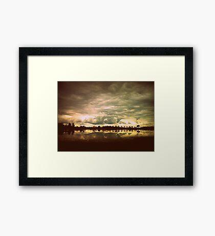 You in a Landscape Framed Print