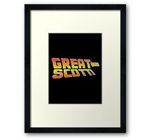 Great Scott! (Back To The Future) Framed Print