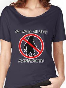 MANBEARPIG (South Park) (Al Gore) Women's Relaxed Fit T-Shirt