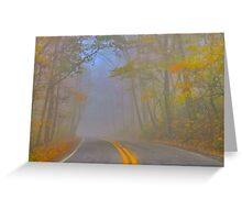 Foggy Morning on the Arkansas Scenic Pig Trail Bypass Greeting Card