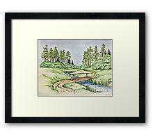 Hills landscape Framed Print