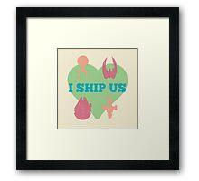 I Ship Us Framed Print