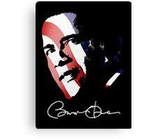 Barack Obama Signature Canvas Print