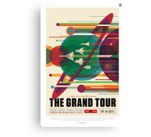 The Grand Tour - NASA Travel Poster Canvas Print