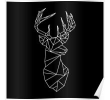 Geometric Stag Poster