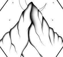 Mountain: Black and White Sticker