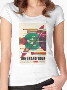 The Grand Tour - NASA Travel Poster Women's Fitted Scoop T-Shirt