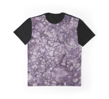 Purple Abstract Graphic T-Shirt