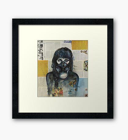 Eyes Behind the Mask Framed Print
