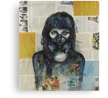 Eyes Behind the Mask Canvas Print