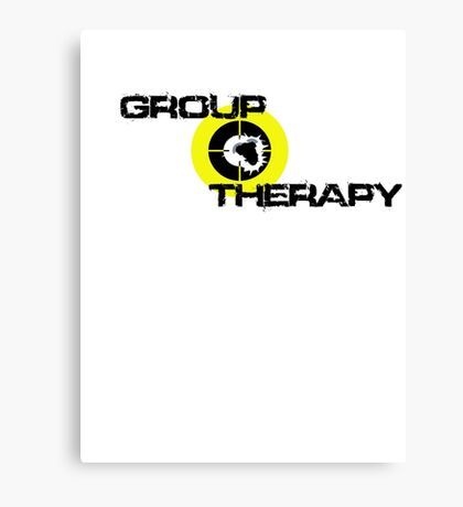 Group Therapy - black text  Canvas Print