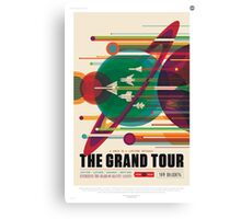 Retro NASA Space Poster - The Grand Tour Canvas Print