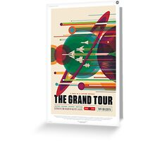 Retro NASA Space Poster - The Grand Tour Greeting Card