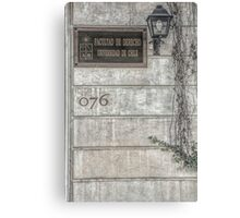 Faculty of Law - Santiago - Grunged Filter Canvas Print