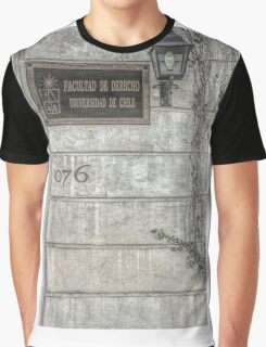 Faculty of Law - Santiago - Grunged Filter Graphic T-Shirt