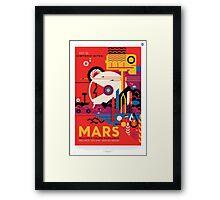 Mars - NASA Travel Poster Framed Print