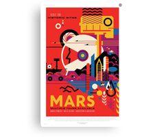 Mars - NASA Travel Poster Canvas Print