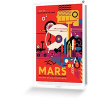 Mars - NASA Travel Poster Greeting Card