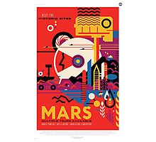 Mars - NASA Travel Poster Photographic Print