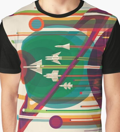 Retro NASA Space Poster - The Grand Tour Graphic T-Shirt