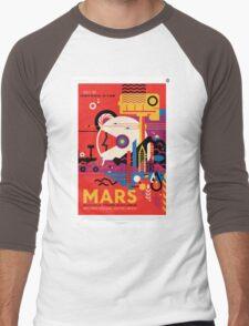 Mars - NASA Travel Poster Men's Baseball ¾ T-Shirt