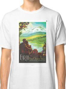 Earth - NASA Travel Poster Classic T-Shirt