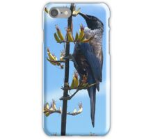 Tui and the flowering Flax.......! iPhone Case/Skin