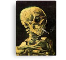 Skull with Burning Cigarette by Vincent van Gogh Canvas Print