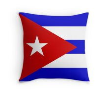 Cuban Flag Throw Pillow