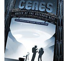 Ceres - NASA Travel Poster by maslowsky