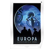 Retro NASA Space Poster - Europa Poster