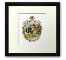 Vintage Easter Bunnies Framed Print