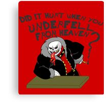 Underfell from Heaven Canvas Print