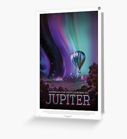 Retro NASA Space Poster - Jupiter Greeting Card