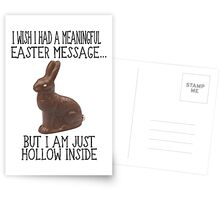 Hollow Inside Funny Easter Postcards