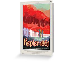 Retro NASA Space Poster - Kepler Greeting Card