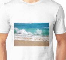 Wave breaking on the beach Unisex T-Shirt