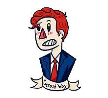 Gerard Way Sticker Photographic Print