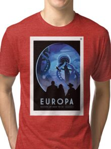 Europa - NASA Travel Poster Tri-blend T-Shirt