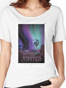 Retro NASA Space Poster - Jupiter Women's Relaxed Fit T-Shirt