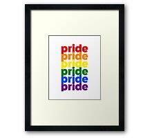 LGBTQ Pride (rainbow on white background) Framed Print