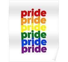 LGBTQ Pride (rainbow on white background) Poster
