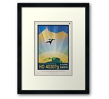 Retro NASA Space Poster - Super Earth Framed Print