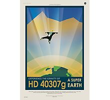 Retro NASA Space Poster - Super Earth Photographic Print