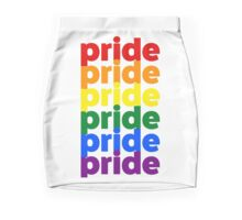 LGBTQ Pride (rainbow on white background) Mini Skirt